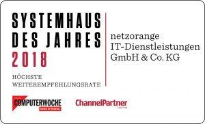Bestes Systemhaus 2018 - netzorange IT-Dienstleistungen